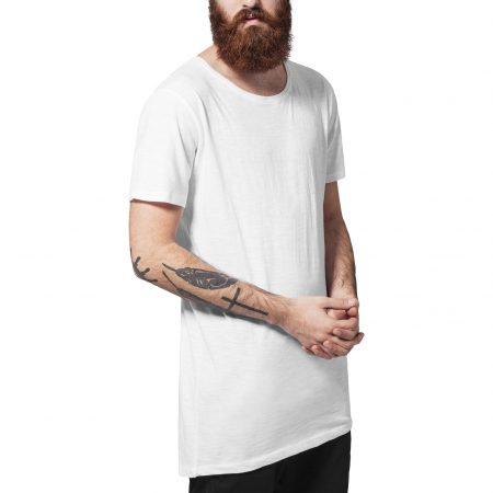 TB1094 Long Fit T-shirt White long slub UC Mannen