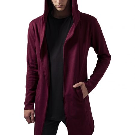 TB1389-Long-fit-vest-capuchon-burgundy-UC-mannen