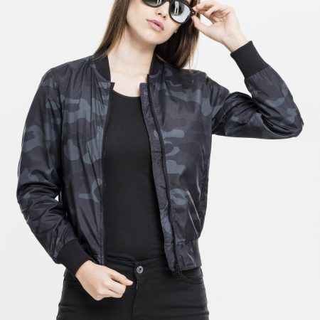 TB1627 Light camouflage bomber jacket DarkCamo UC vrouwen