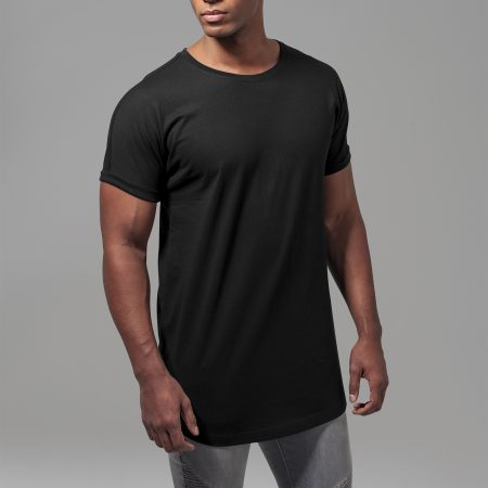 TB1561 Basic Long Fit Turn Up T-shirt Black UC Mannen