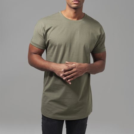 TB1561 Basic Long Fit Turn Up T-shirt Olive UC Mannen