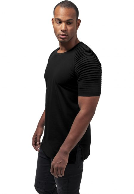 TB1563 Basic Long Fit Ribbel Mouw T-shirt Black UC Mannen