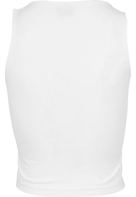 TB1631 Basic Crop Top Touwtje Wit UC Vrouwen