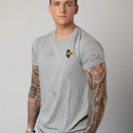M-DDC0003-TS Long Fit T-shirt Gaten Grey