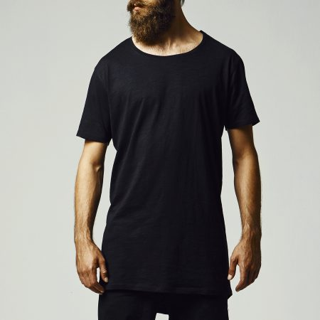 TB1094 Basic Long Fit T-shirt Black long slub UC Mannen