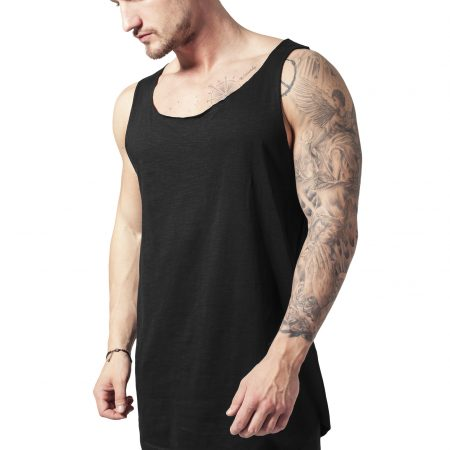 TB964 Basic Losse Long Fit Tanktop zwart mannen UC