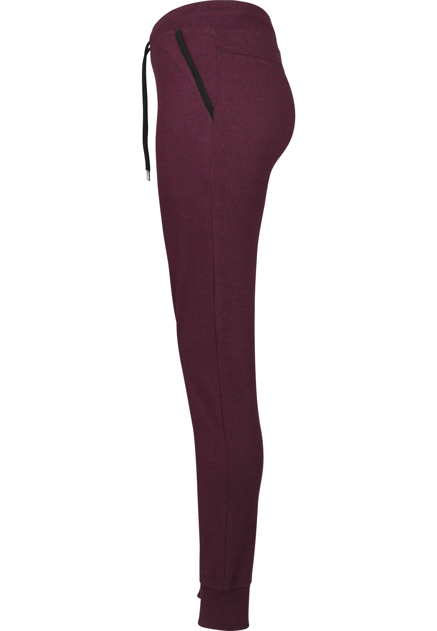 TB1670-Athletic-Melange-Joggingbroek-Vrouwen-BurgundyBlack